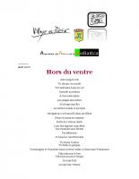 XXIIe Printemps des Poetes 2 avril-15 avril 2020