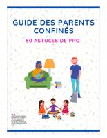 Guide des parents confinés 50 astuces de pro