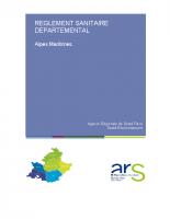 Reglement sanitaire départemental des AM