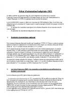 DEBAT ORIENTATION BUDGETAIRE 2021